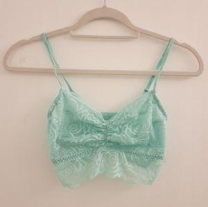 Victoria's Secret PINK Mint Lace Bralette size Sm